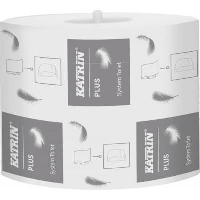 Katrin Toalettpapper Plus System Toalett 680 36rullar/kart(Miljö)