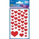 Stickers Hjärtan Röda 120st/fpk