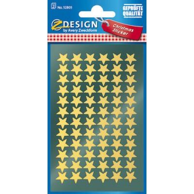 Stickers Stjärnor Guld 144st/fpk