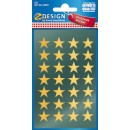 Stickers Stjärnor Guld 56st/fpk