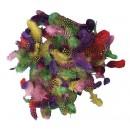 Pärlhönsfjädrar 10g Mix Färger