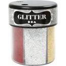 Glittermix Bas 13g 6 färger