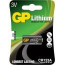 Knappbatteri Lithium 3V CR123