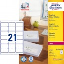 Adressetikett Avery Recycled LR7160 63,5x38,1mm 2100st/fpk (Miljö)