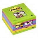 Post-it Super Sticky Rainbow 101x101mm Linjerat 6st/fpk (Miljö)