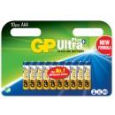 Batteri GP Ultra Plus AAA/LR03 10st/fpk (Miljö)