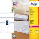 Adressetikett Avery L7183 105x74mm 800st/fpk (Miljö)