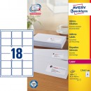 Adressetikett Avery L7161 63,5x46,6mm 1800st/fpk (Miljö)