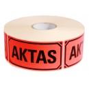 "Signaletiketter ""Aktas"" 1000st/rulle"