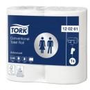 Toalettpapper Tork T4 Advanced 2-lager Extra Långt 24rullar/bal