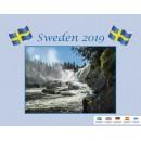 Väggkalender Sweden med Kuvert (Miljö)